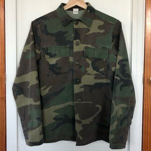 Vintage Army Camo Shirt Jacket Size S
